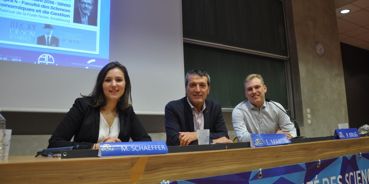 22 novembre 2016 – Rendez-vous européens de Strasbourg (conférence E. Martin)