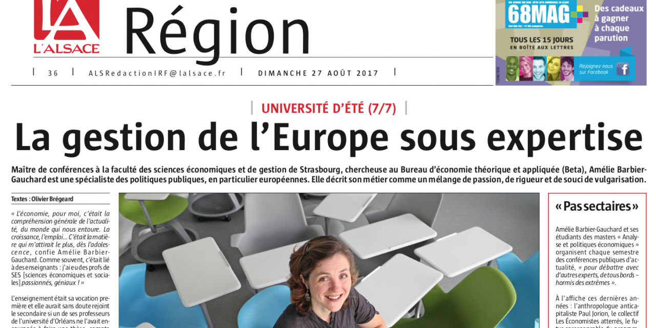 Presse : La Gestion de l'Europe sous expertise, A. Barbier-Gauchard