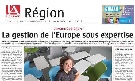 Presse : La Gestion de l'Europe sous expertise, A. Barbier-Gauchard